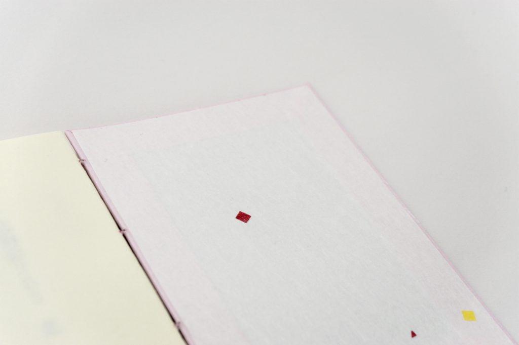 手製本 一文物語365 花の表紙内側