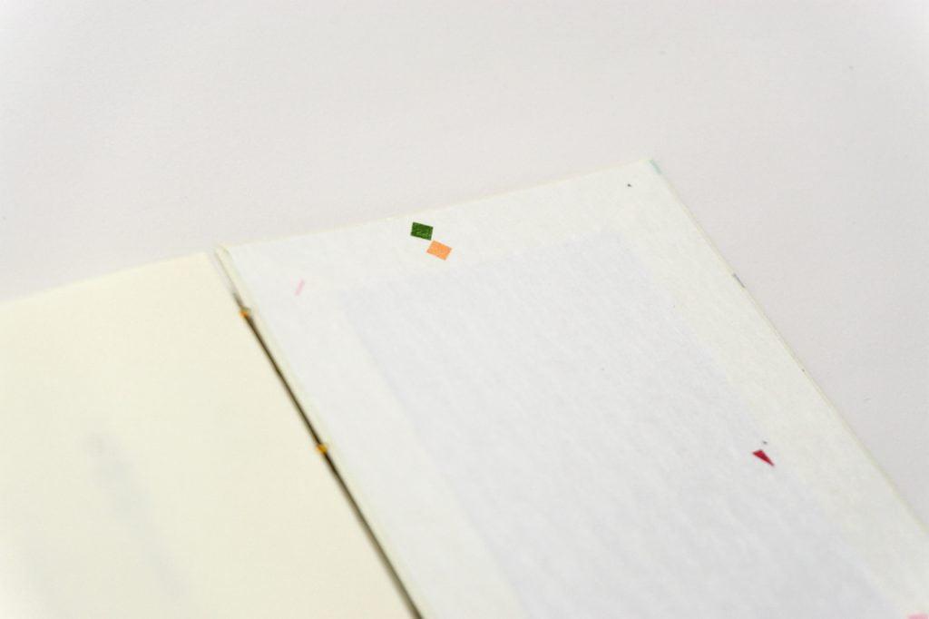 手製本 一文物語365 月の表紙内側