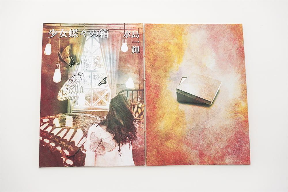 少女蝶々の箱手製本の表紙と裏表紙