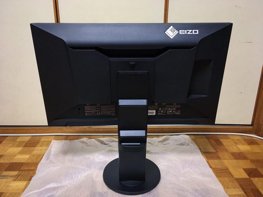 EIZO 液晶モニター FlexScan 23.8 EV2451-RBKの裏側