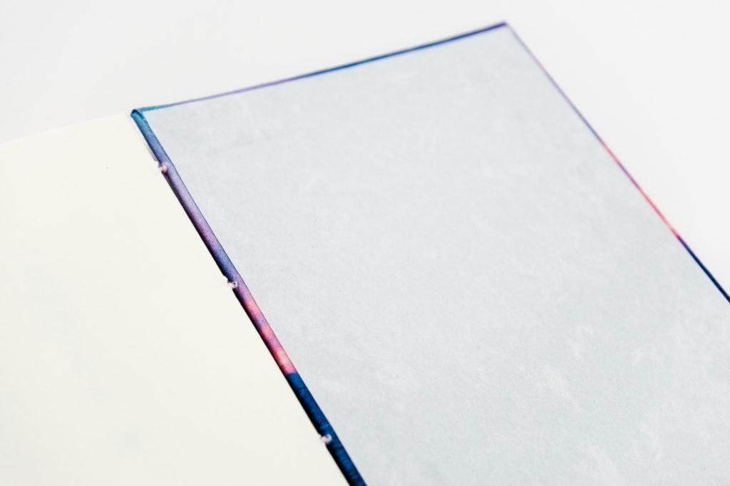 手製本 一文物語365 海の表紙内側