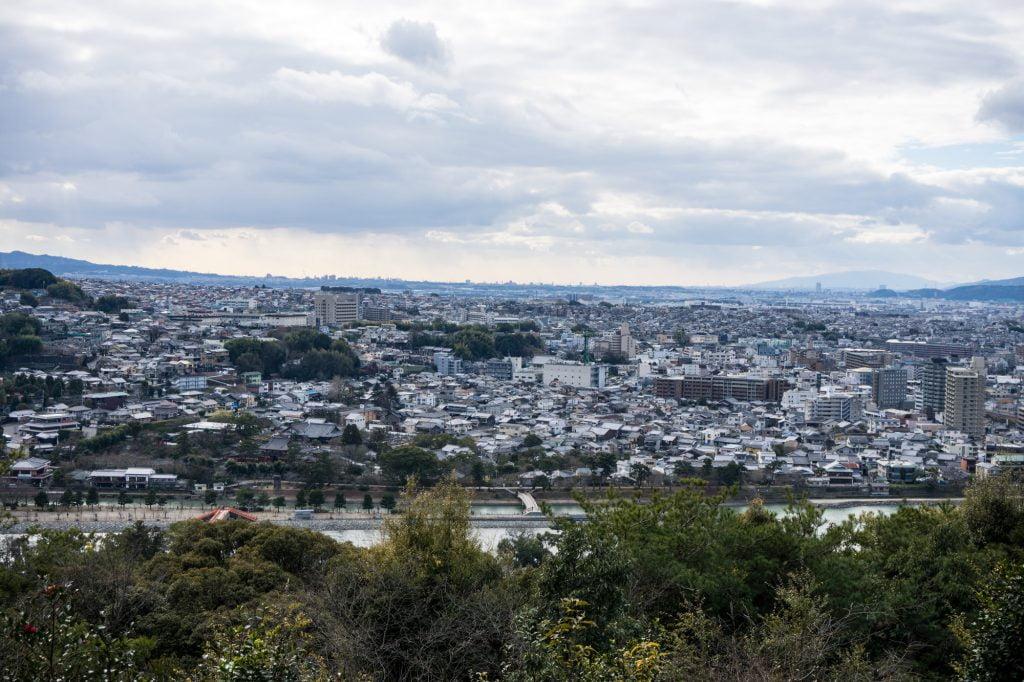 大吉山展望台からの宇治の眺め