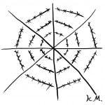 一文物語365 挿絵 クモの巣