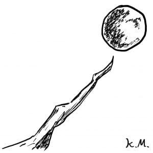 一文物語365 挿絵 月に伸びる枝