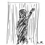 一文物語365 挿絵 壁に浮かび上がる人の姿