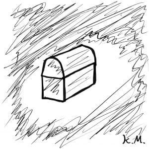 一文物語365 挿絵 宝箱