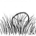 一文物語365 挿絵 捨てられた車輪