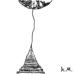 一文物語365 挿絵 月への階段