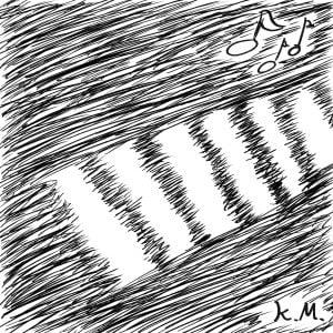 一文物語365 挿絵 夜の横断歩道