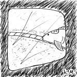 一文物語365 挿絵 海底電車の車窓