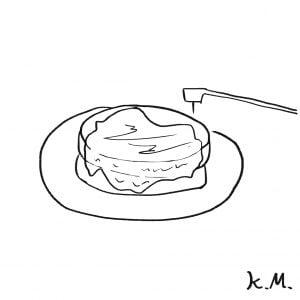 一文物語365 挿絵 ホットケーキ