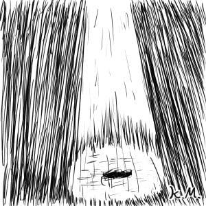一文物語365 挿絵 UFOの光