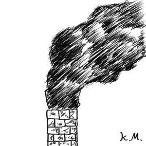 一文物語365 挿絵 煙突の煙