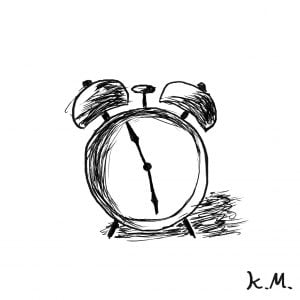 一文物語365 挿絵 目覚まし時計