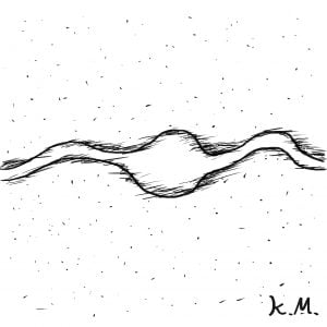 一文物語365 挿絵 宇宙とヘビ