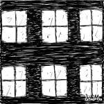 一文物語365 挿絵 夜の窓