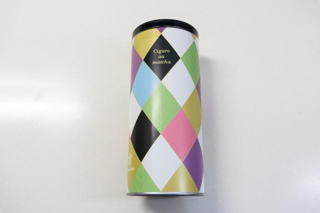 ヨックモック シガール抹茶 パッケージの筒