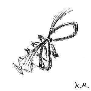 一文物語365 挿絵 縦蝶々結び