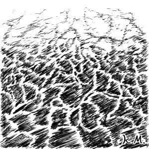 一文物語365 挿絵 海面