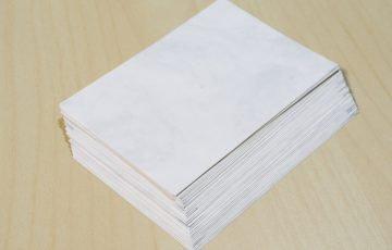 はん・ぶんこ表紙の内側の紙 新アトモス