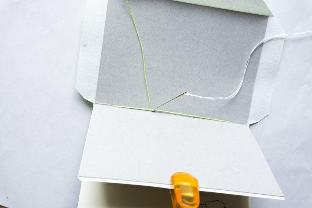表紙と本文の糸かがり