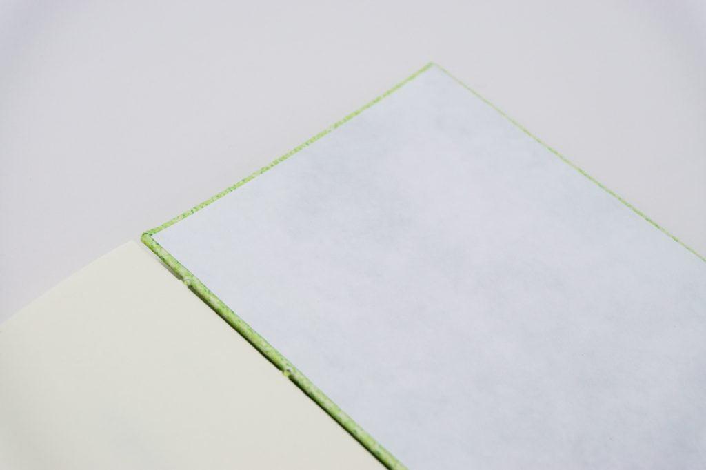 糸かがり手製本はん・ぶんこ 一文物語365 飛の表紙内側