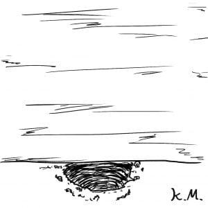 一文物語365 挿絵 壁の下に掘られた穴