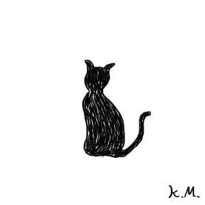 一文物語365 挿絵 黒猫