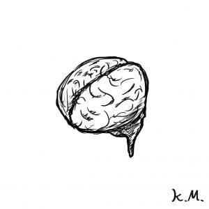一文物語365 挿絵 脳