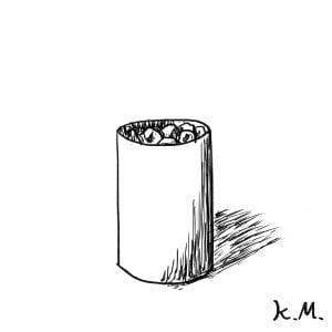 一文物語365 挿絵 ゴミ箱