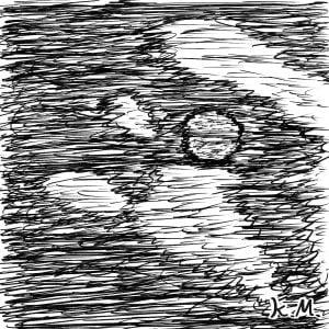 一文物語365 挿絵 月を隠す雲の空