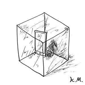 一文物語365 挿絵 氷の中のスマートフォン