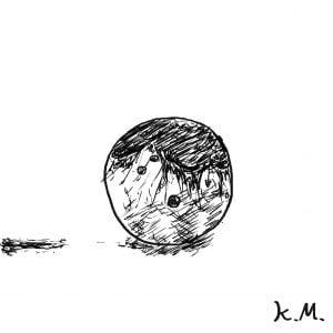 一文物語365 挿絵 血にまみれたボウリングの玉