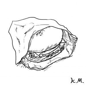 一文物語365 挿絵 ハンバーガー