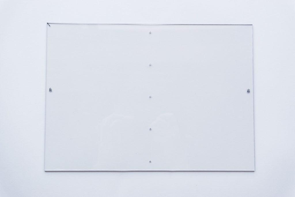 B6版穴あけガイド板完成