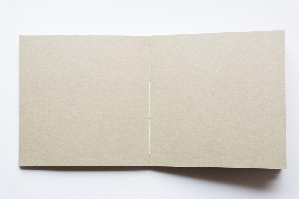 手製本スクラップブックの見開き