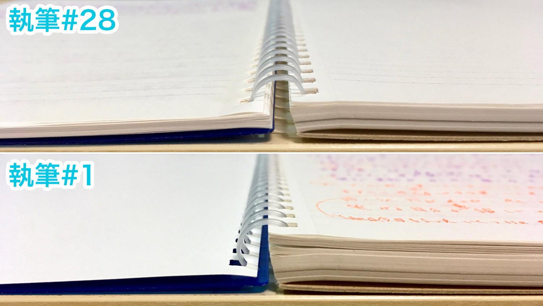 見開きノートの厚さ比較#28