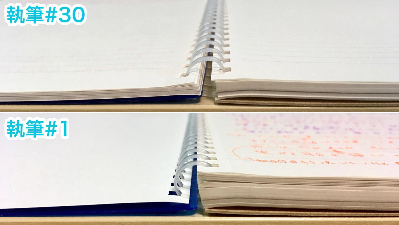 見開きノートの厚さ比較#30