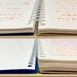 見開きノートの厚さ比較#43