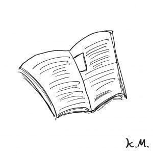 一文物語365 挿絵 開いた本