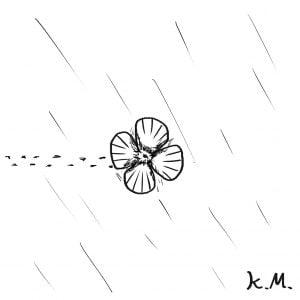 一文物語365 挿絵 小花の傘
