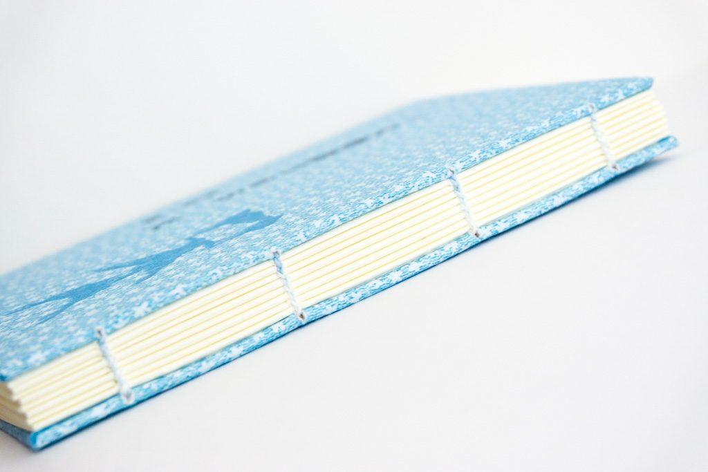 糸かがり手製本はん・ぶんこ一文物語365 天の背表紙