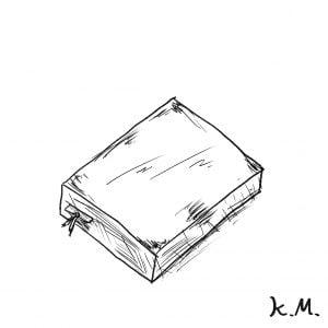 一文物語365 挿絵 栞の挟まれた本