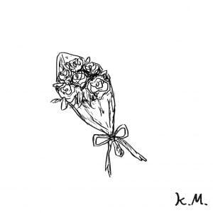 一文物語365 挿絵 バラの花束