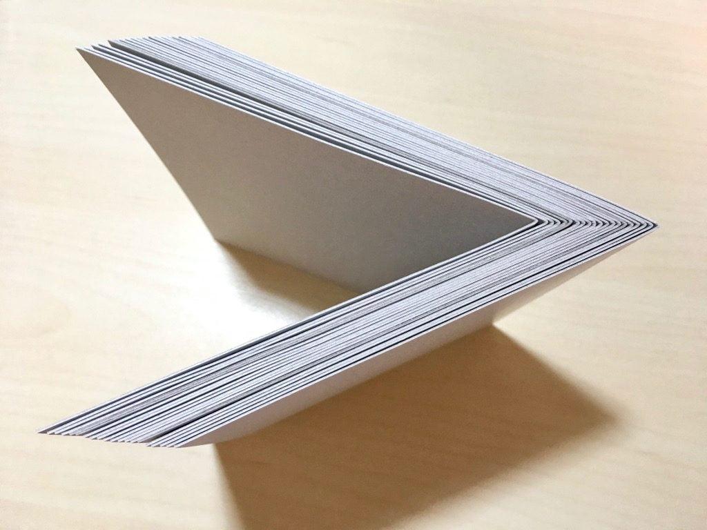 新作手製本 一文物語365 2016年集の表紙用の厚紙