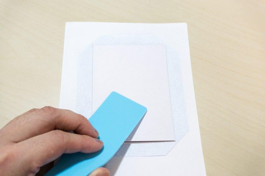 一文物語365 天の表紙に厚紙を貼る