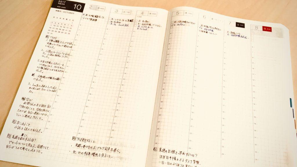 ほぼ日手帳のウィークリーページ