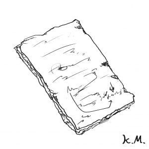 一文物語365 挿絵 ボロボロのメモの紙