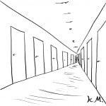 一文物語365 挿絵 ホテルの廊下
