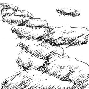 一文物語365 挿絵 雲の道